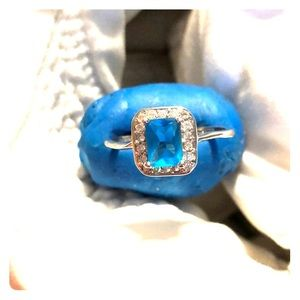 Bright blue ring